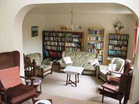 the Lounge, Belvedere Guest House, Church Stretton, Shropshire