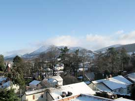 a winter view from the Belvedere Guest House